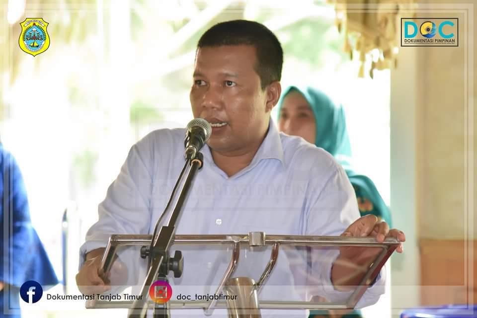 Bupati Tanjung Jabung Timur Romi Hariyanto menyampaikan sambutannya