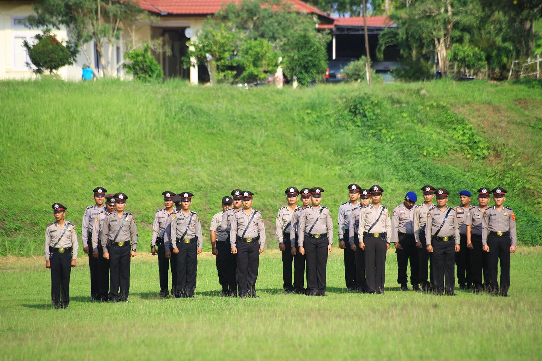 Anggota Polres Tanjab Timur ikut upacara Harkitnas